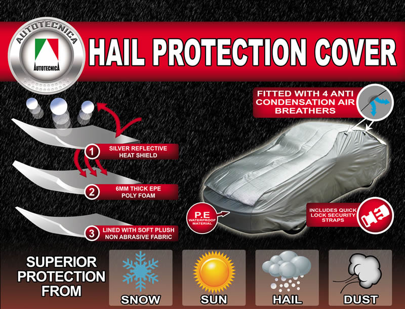 Hail Storm Protection Car Cover Up To 5 27m Extra Large New