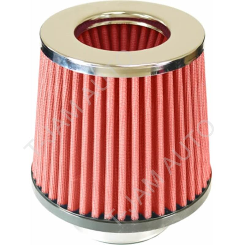SAAS High Flow Performance Red Air Pod Filter Chrome Top Multi Fit 60-100mm